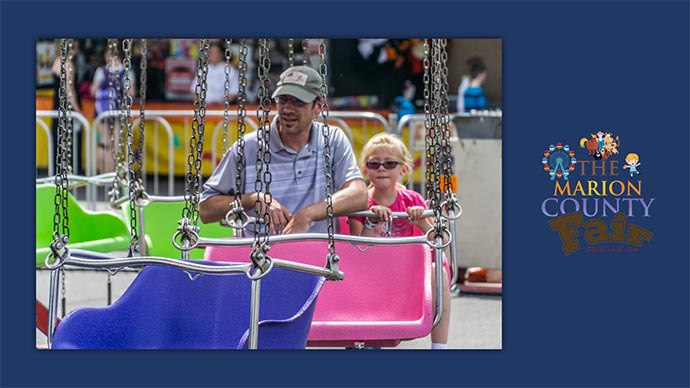 Marion County Fair - carnival swings ride