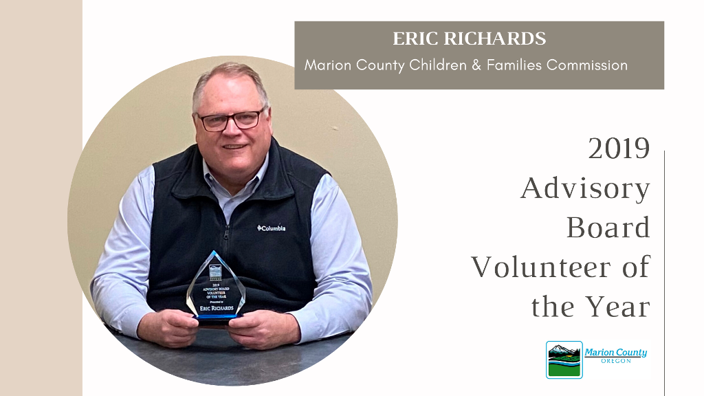 Eric Richards 2019 Advisory Board Volunteer of the Year