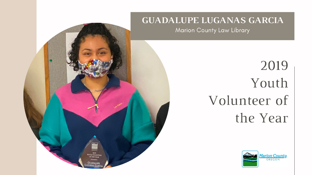 Guadalupe Luganas Garcia 2019 Youth Volunteer of the Year