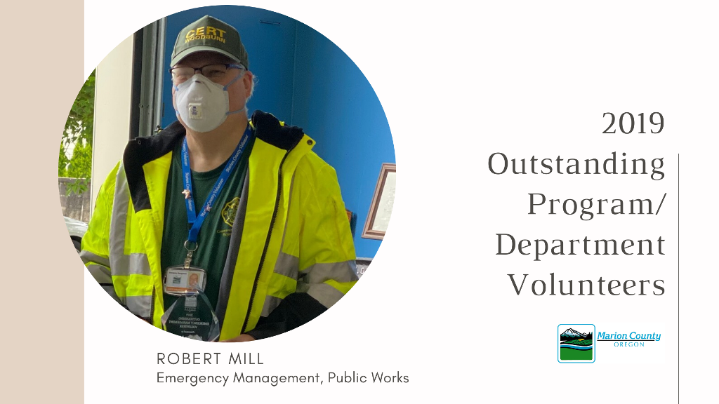 Rob Mill 2019 Program Volunteer