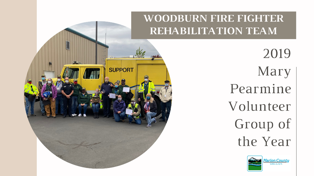 WFFRHT 2019 Pearmine Volunteer Group of the Year