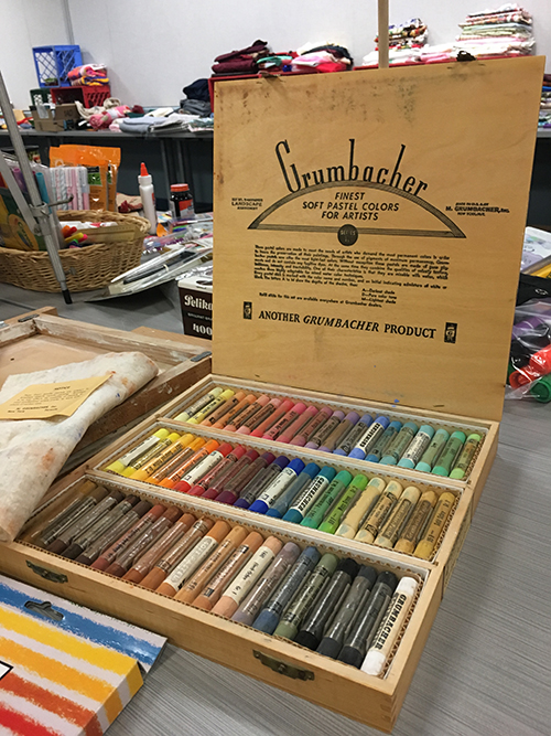 Box of oil pastels