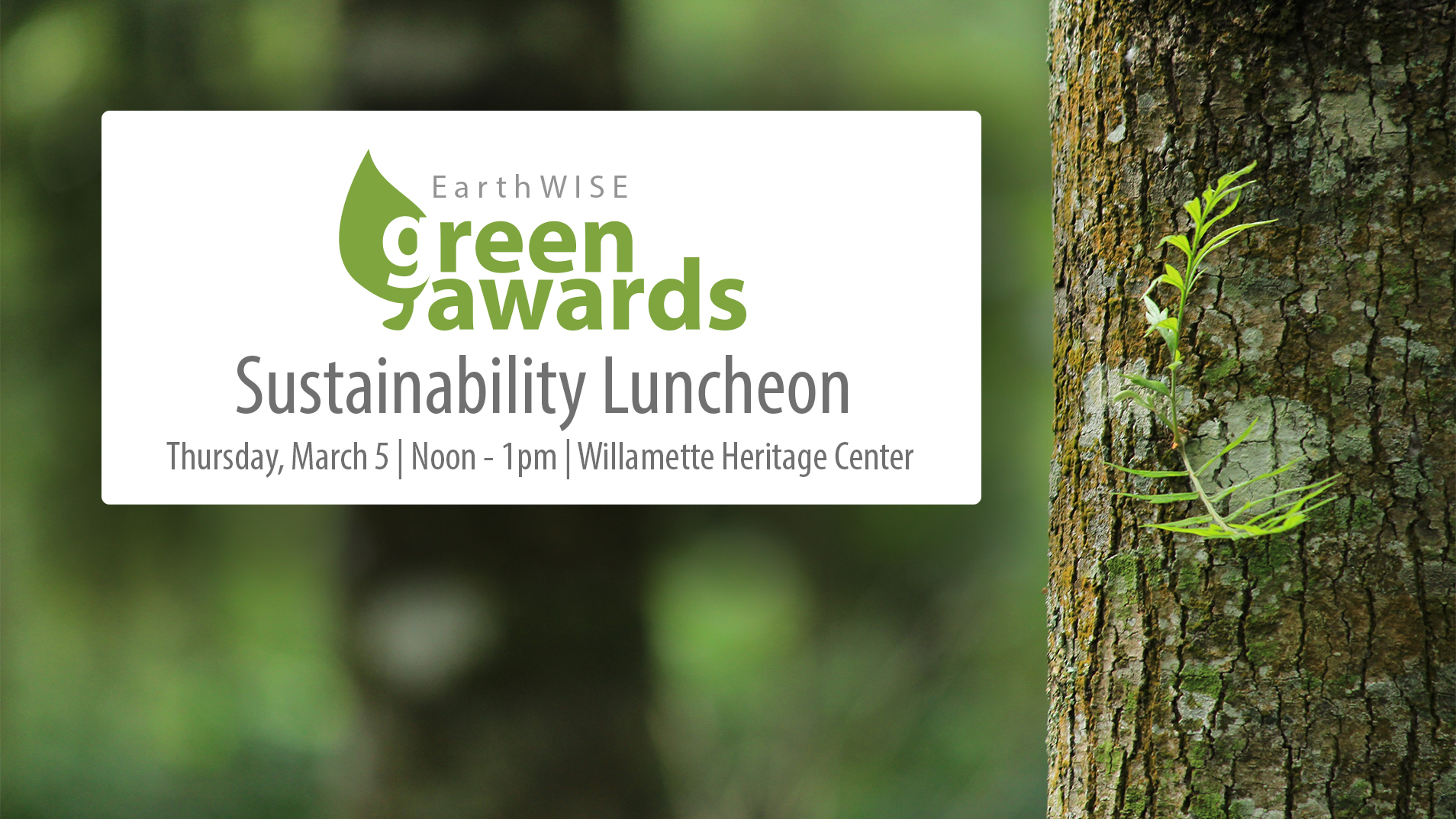 EarthWISE Green Awards and Sustainability Luncheon