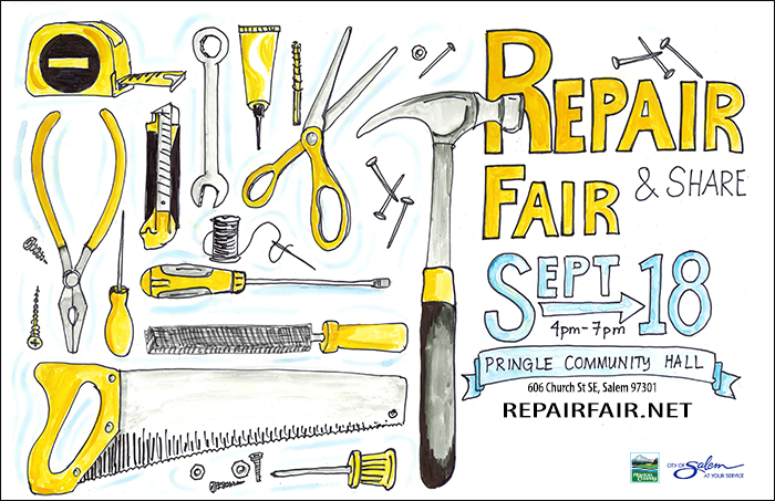 Repair Fair & Share Poster, Sept 18, 2019
