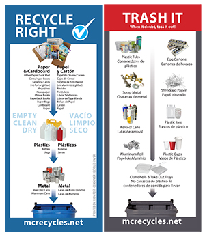 Recycle Right Trash Rack Card