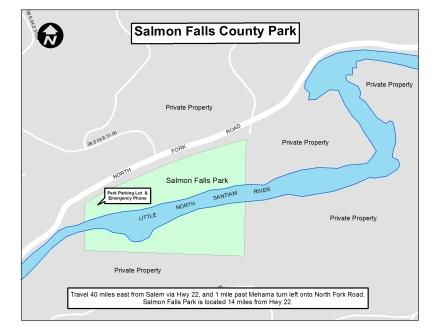 Salmon Falls county Park map
